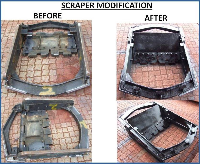 SCRAPER MODIFICATIONS